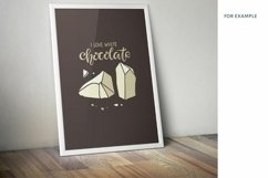 I love Chocolate SVG PNG Eps. Handwritten lettering quote Product Image 4