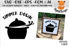 Simmer Down Crock Pot Kitchen SVG Product Image 1