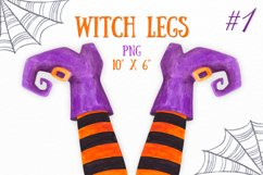 Watercolor Witch legs clipart Halloween party decoration Product Image 1