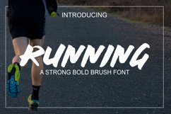 Running Font Product Image 1