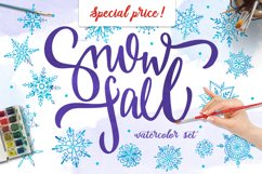 Watercolor snowflakes Product Image 1