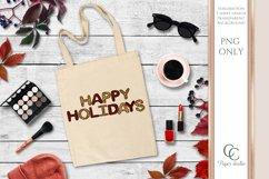 Sublimation design - Happy holidays - Tartan & Cheetah Product Image 2