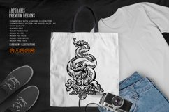 Silhouette Angry Oriental Dragon Culture SVG Illustrations Product Image 2