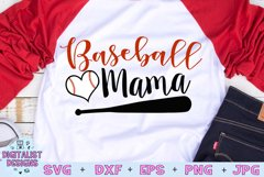 Baseball Mama SVG | Baseball Mom SVG | Baseball SVG Product Image 1