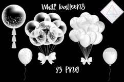 White Balloons Clipart Product Image 1