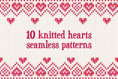10 knitted hearts seamless patterns Product Image 1