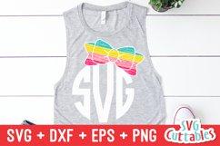 Bow SVG | Bow Monogram Frame Product Image 1