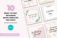 10 Instagram Ready To Post Quotes Canva Templates Product Image 1