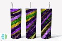 Skinny Tumbler Sublimation Design - Mardi Gras Glitter Product Image 6