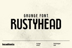 Rustyhead Typeface   Font Product Image 1