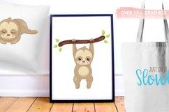 Sleepy sloth graphics and illustrations Product Image 5