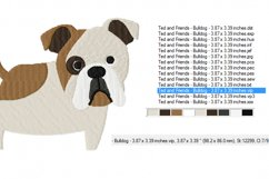 BULLDOG Embroidery Design in 2 sizes Product Image 2
