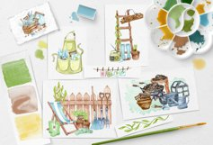 Gardening Watercolor Clipart Product Image 3