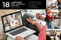 18 Laptops Video Call Mockup Product Image 1