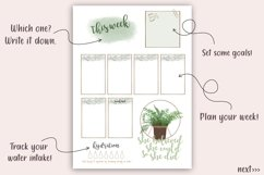 Printable Planner plus Free Stickers, Plants Planner, PDF Product Image 3