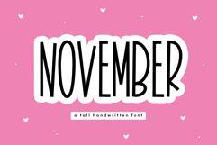 November - A Tall Handwritten Font Product Image 1