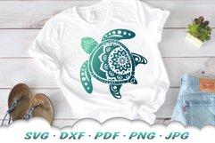Mandala Sea Turtle SVG DXF Cut Files Bundle Product Image 4