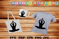 Afro Yoga svg,Afro woman svg,Black woman,Black history svg Product Image 1
