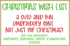 CHRISTMAS WISH LIST EMBROIDERY FONT Product Image 1