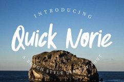 Quick Norie Handbrush Font Product Image 1