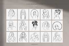Women Portraits. Line Art Collection. Product Image 6