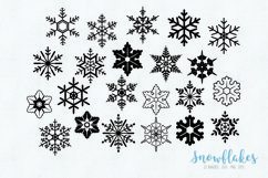Snowflakes clipart SVG eps png Product Image 2