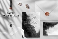 Ombre Watercolor Wedding Invitation Suite Product Image 1