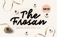 The Frosan Display Font Product Image 1