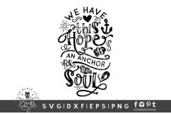 Hope Is Anchor For The Soul SVG | Bible Verse SVG | Easter Product Image 1