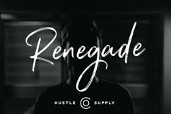Renegade - Hand Painted Signature - Font Product Image 1