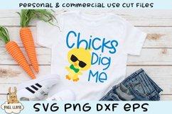 Chicks Dig Me Easter SVG Product Image 1