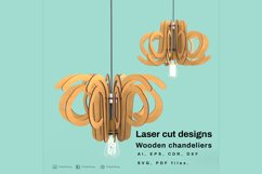 Wooden chandeliers - Laser cutting File Product Image 3