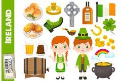 Ireland clip art Irish graphics St Patricks Day Clipart Product Image 1
