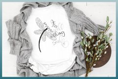 It Is Well With My Soul Quote with Dragonfly Mandala SVG Product Image 3