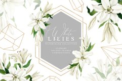 White Lilies Watercolor Collection Product Image 1