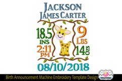 3 sizes Baby Born Announcement Embroidery Template Product Image 3