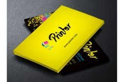 Printer Business Card PSD Template Product Image 2