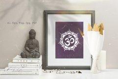 Chakra sybmols. Mandala set, Yoga, boho style.2 variatio Product Image 6