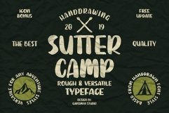 SUTTER CAMP - Adventure Typeface Product Image 1
