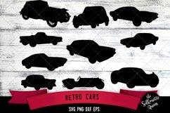 Retro Cars svg file, auto svg cut file, silhouette studio Product Image 1