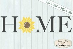 Home Sunflower SVG DXF File Product Image 2