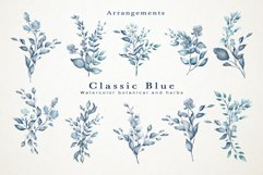 Classic Blue Watercolor Botanical Product Image 3