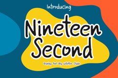 Nineteen Second Product Image 1