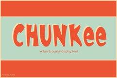 Chunkee Bold Handwritten Display Font Product Image 1