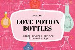 Love Potion Bottle Procreate Stamp Brush Product Image 1