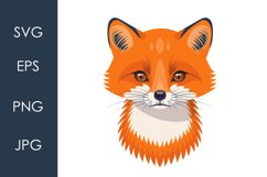 Funny Red Fox Face Product Image 1