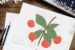 Cherry hand drawn clip art Product Image 3