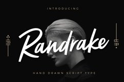 Randrake - Font Script Product Image 1
