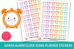 Kawaii Alarm Clock Icons Planner Stickers- Clock Stickers Product Image 1