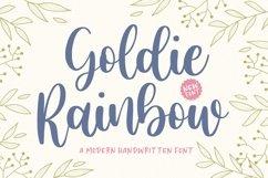 Goldie Rainbow Modern Handwritten Font Product Image 1